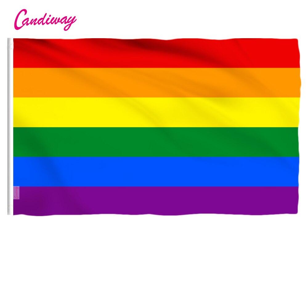 Лидер продаж, новый радужный флаг 90 см x 150 см, стандартный флаг из полиэстера 3x5 футов, флаги гордыни для геев, уличные и внутренние флаги