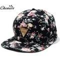 Cool 2016 New Fashion Floral Adjustable Casquette Snapback Caps Women Hip Hop Hat Sunhat Baseball Cap