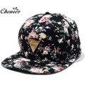 Enfriar 2016 Nueva Moda Floral Sunhat Casquette Snapback Caps Hip Hop Sombrero Ajustable Gorra de Béisbol