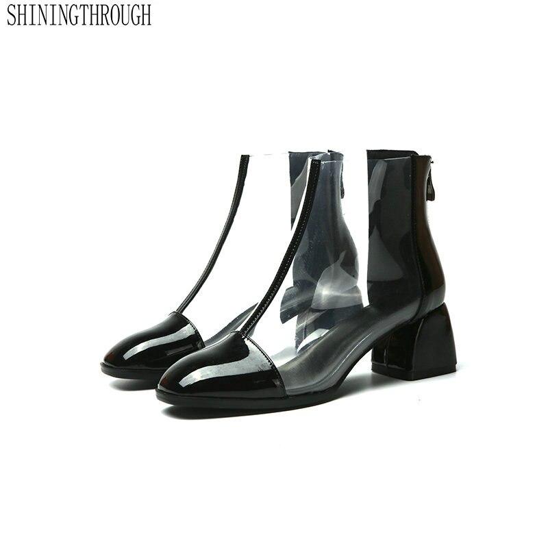New 5cm high heel rain boots women sweet girls boots transparent women boots 2018 cowboy boots for women large size 43New 5cm high heel rain boots women sweet girls boots transparent women boots 2018 cowboy boots for women large size 43