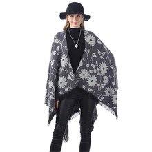 Дизайнерские зимние женские мягкие кашемировые шарфы стильное теплое одеяло однотонная зимняя шаль элегантная женская шаль s