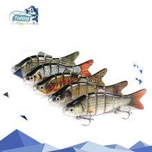 1PCS Fishing Lure Multi Jointed Arduous Bait 10cm 19.5g Lifelike joint bait Wobblers 6 Segments Swimbait Fishing Lure Crankbait