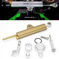 CNC Aluminum Adjustable Motorcycles Steering Stabilize Damper Bracket Mount Kit For YAMAHA R1 1999 2005