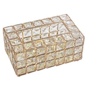 Image 5 - Светильник роскошным позолоченным кованого железа с одноразовыми салфетками Ящики для гостиной лоток коробка держатель для салфеток для Творческое Оформление рабочего стола