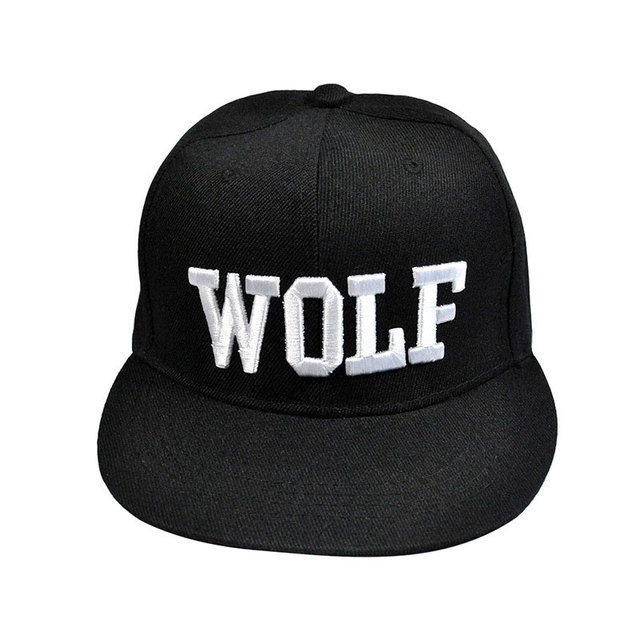 82d4568e2ac Summer 3D Embroidered Wolf Flat Visor Snapback Adjustable Baseball Cap Hip  Hop Bone Swag Peaked Sun