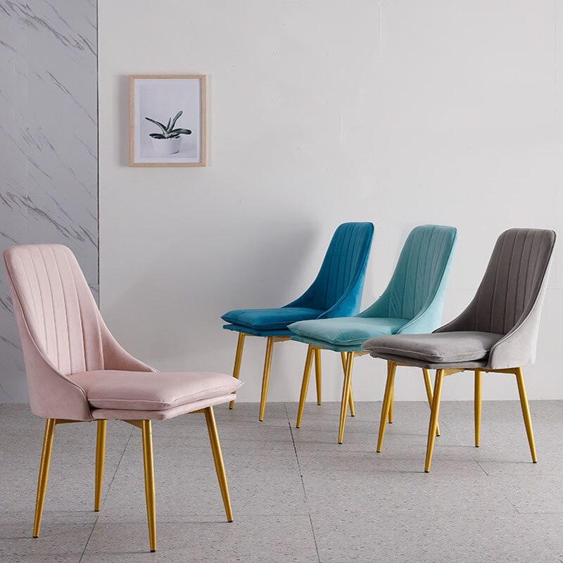 Moderne minimaliste à manger chaise éponge velours Restaurant meubles chaise Restaurant moderne chine fer chaise bois cuisine reste