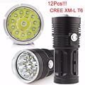 Высокое Качество 30000LM 12x CREE XM-L T6 LED Фонарик Факел 4x18650 Охота Свет Лампы