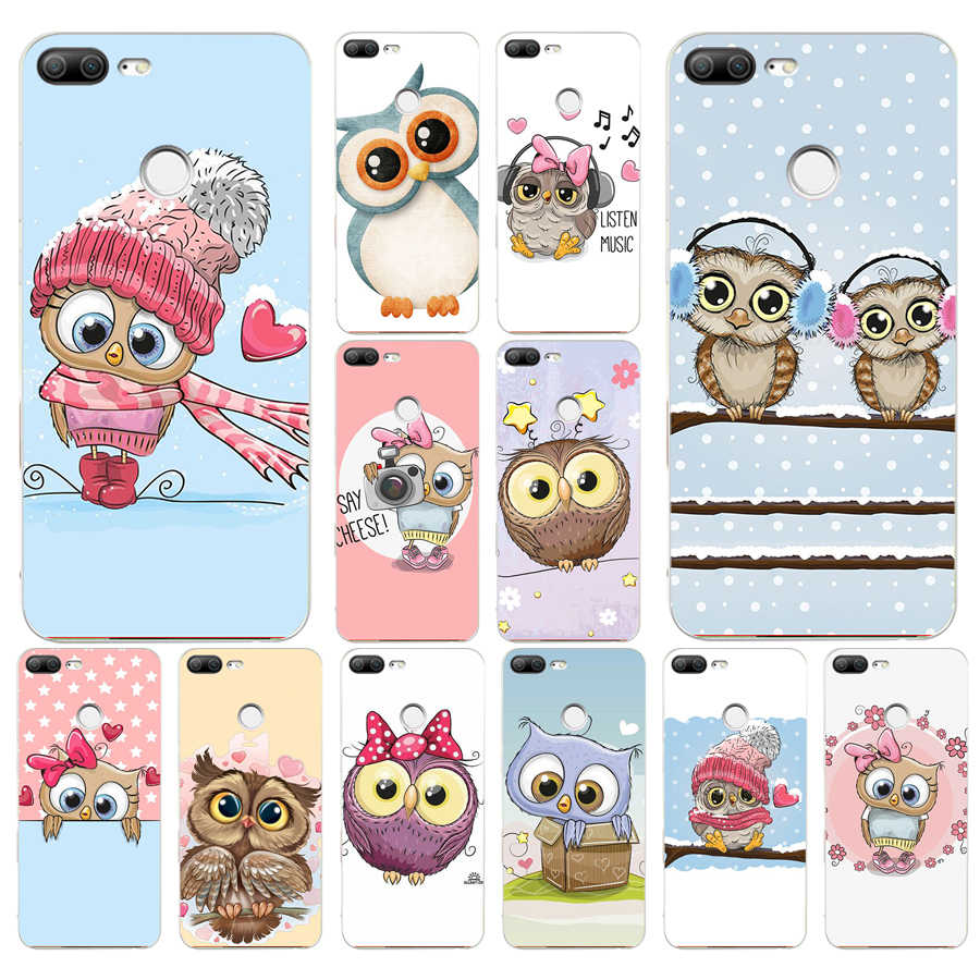 172H Cute Owl Hearts Lover Christmas Soft Silicone Tpu Cover phone Case for huawei Honor 9 Lite 10 p 9 10 lite