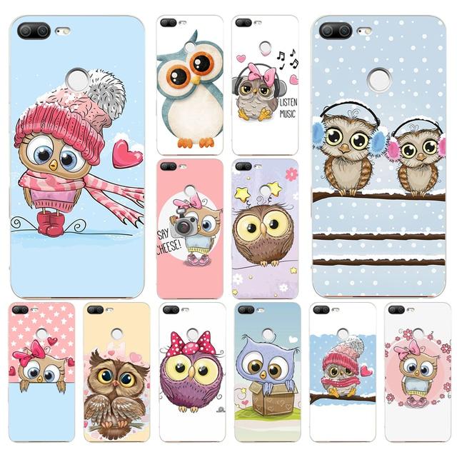 172 H Dễ Thương Owl Trái Tim Người Yêu Giáng Sinh Mềm Silicone Tpu Bìa Trường Hợp điện thoại cho huawei Honor 9 Lite 10 p 9 10 lite