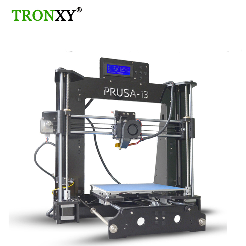 New High Precision Easy DIY 3D Metal Printer Kit Reprap Prusa i3 Aluminium Structure printer 3d Printer Parts With 8G SD Card high precision reprap prusa i3 3d printer diy kit bowden extruder easy leveling acrylic lcd free shipping sd card filament tool
