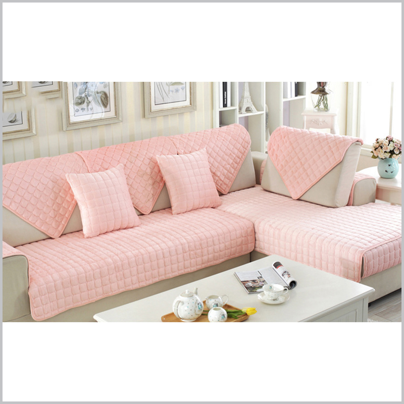 Thick Flannel sofa Cushion Europe Modern Sofa Cover Fashion Plush ...