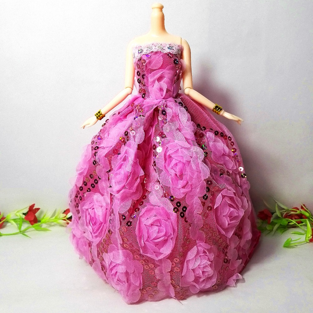 Princess Doll Wedding Dress Clothes Noble Party Gown For Barbie Doll Fashion Design Outfit Best Gift