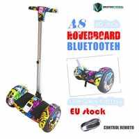 10,5 pulgadas ruedas Hoverboard auto equilibrio Scooter patineta eléctrica con blutooth A8 mango de rueda grande hoaveboard