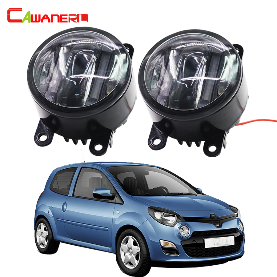 Cawanerl 2 Pieces Car LED Fog Light DRL Daytime Running Lamp 12V Styling For Renault Twingo Scenic Symbol Sandero Stepway