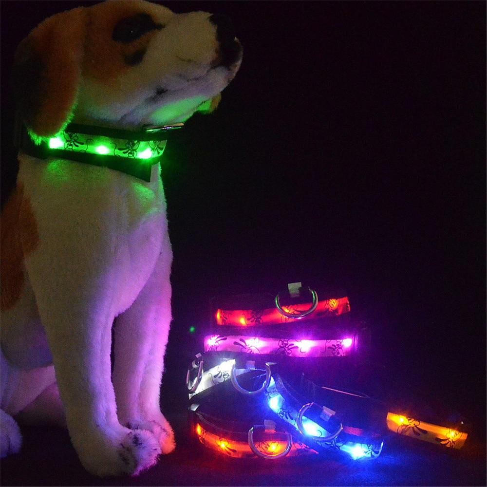 Dog Cartoon LED Puppy Collar 2018 Night Walking Dogs Safety Pet Collars Fashion Led Illuminate Pets Necklace 2018 Puppies Collar