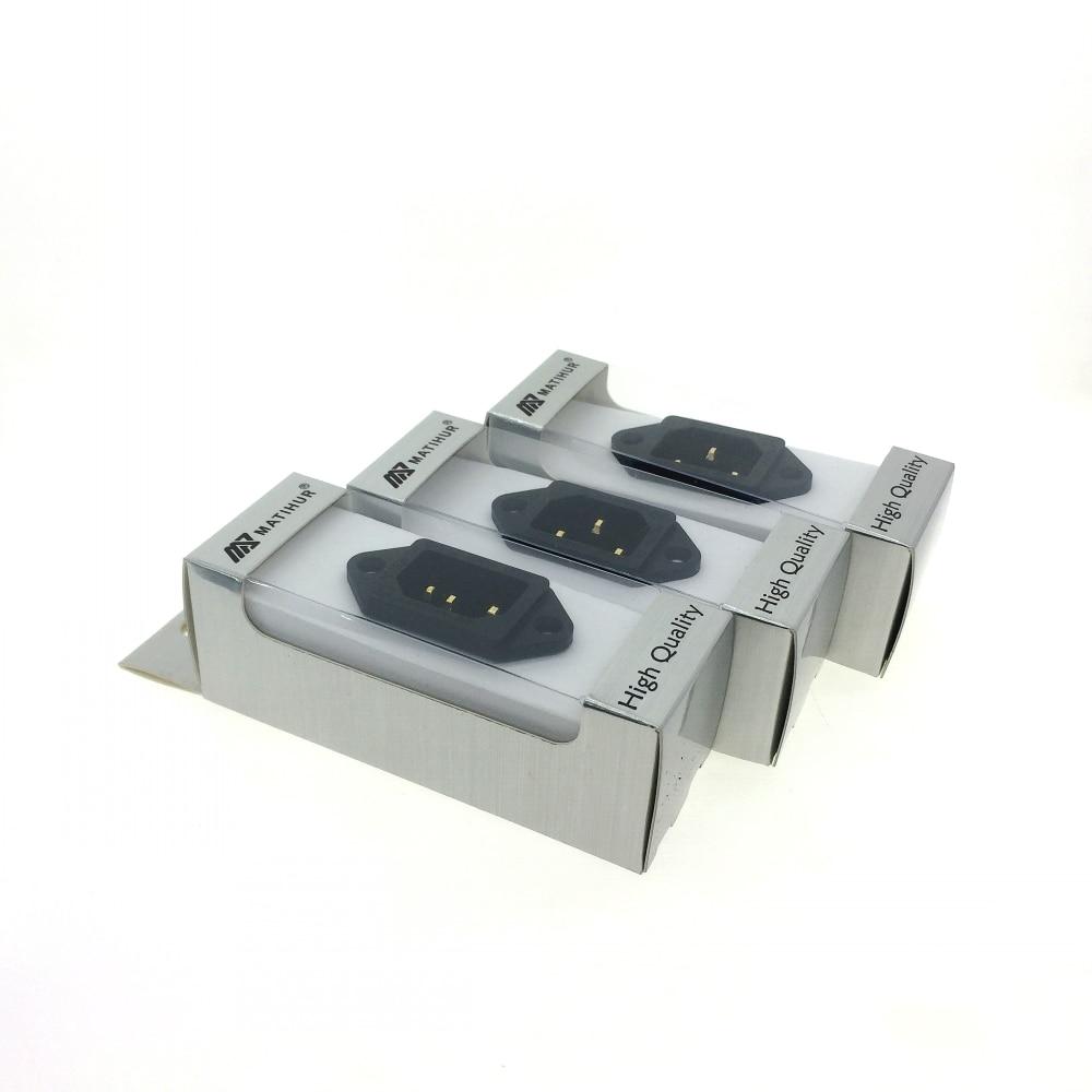 Image 2 - Three MATIHUR 24K AC IEC Inlet Gold Plated Socket Audio Grade RATING:15A/250Electrical Plug   -