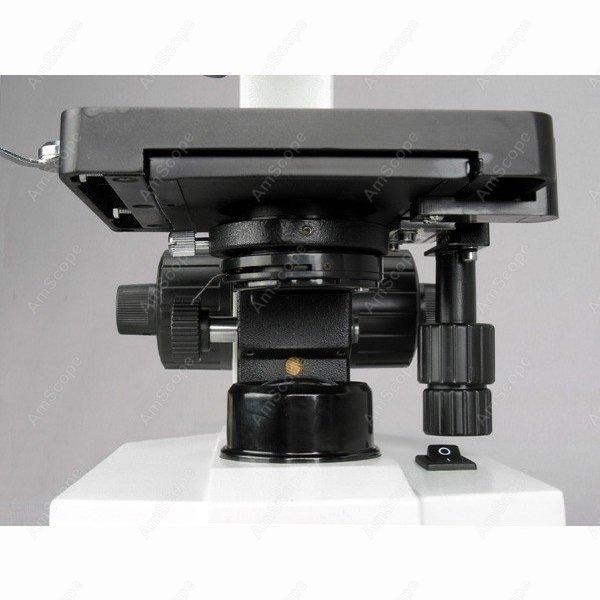 Microscope monoculaire-AmScope fournit 40X-1000X Microscope composé avancé w 3D Stage + livre, diapositives et étui de transport - 4