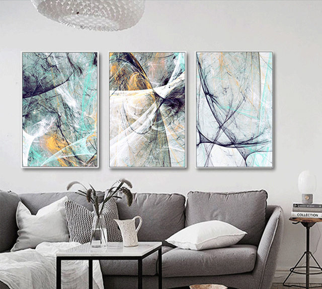 Nordic modern minimalist sky texture print canvas painting decor ...