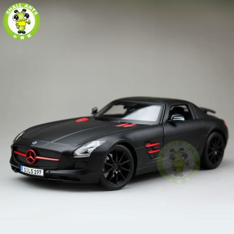 ФОТО 1:18 Scale Mercedes-Benz Benz SLS AMG GT Diecast Metal Car Model Maisto 36196 Matte Black