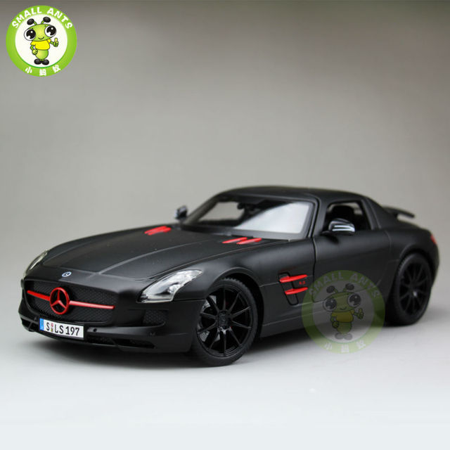 1:18 Scale Mercedes-Benz Benz SLS AMG GT Diecast Metal Car Model Maisto 36196 Matte Black