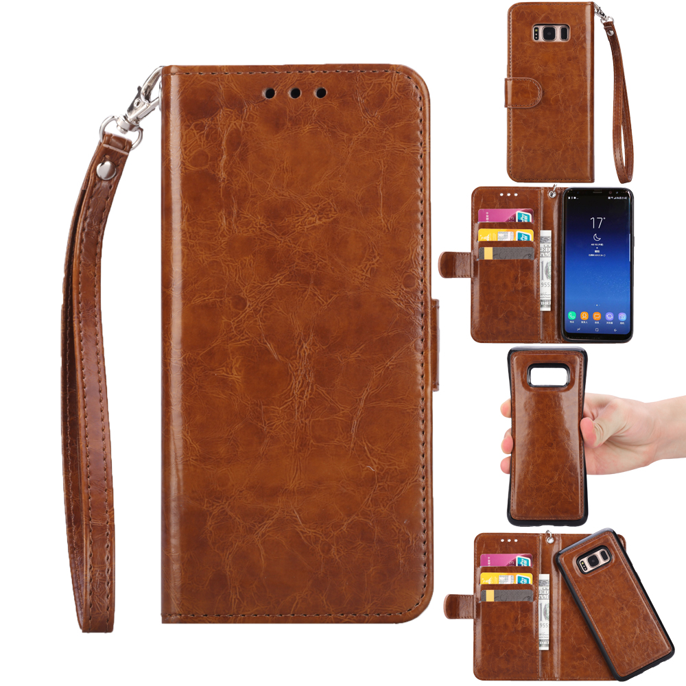 For iPhone 7 Case Cover Wallet Leather Card Slots Stand Flip Case For iPhone 7 Plus Phone Pouch Bag W/ Hand Strip