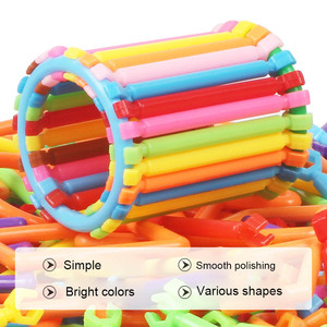 Image 2 - Kids Building Blocks Toy Set with Box Flexible Mixed Shape Sculpting Sticks DIY Educational Toys NSV775