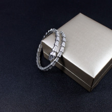 Zircon Thin Fine Snake Bracelet Bone Live Fashion Section