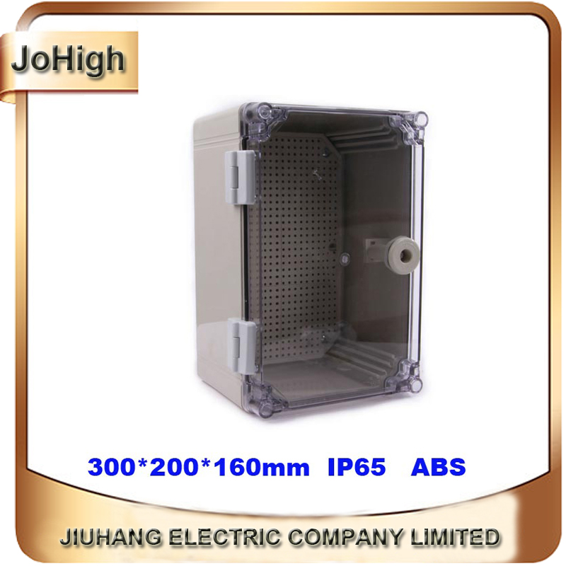 Quality Product ABS Material Transparent Cover IP65 Standard waterproof electric meter box 300*200*160mm free shipping 1piece lot top quality 100% aluminium material waterproof ip67 standard aluminium electric box 188 120 78mm