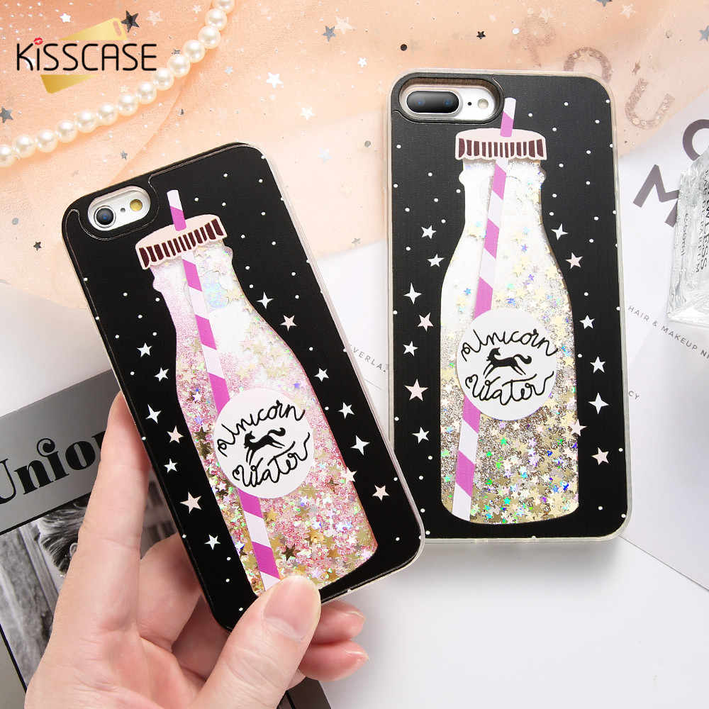 classic fit e9348 ed49c KISSCASE Girly Phone Case For iPhone 7 8 6 6s Plus Cases Cover For iPhone X  10 ten Luxury Silicon Pink Black Cute Glitter Coque