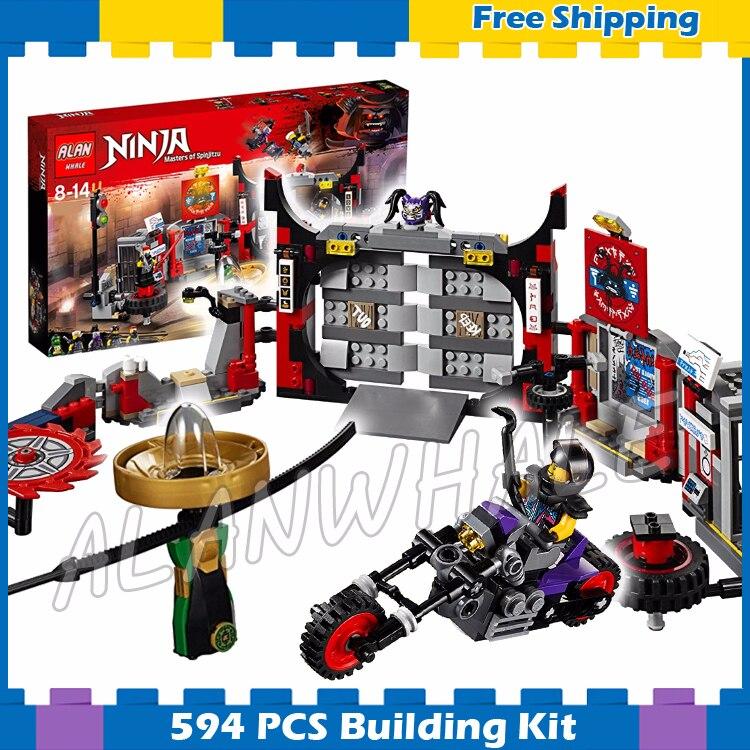 558 pièces Ninja S.O.G. Siège Oni vélo Spinjitzu Spinner 10804 modèle blocs de construction assembler ensembles cadeaux compatibles avec Lego