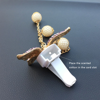 car air outlet JOORMOM bow tie pendant air outlet, perfume clip creative car accessories female vehicle aromatherapy car decoration interior (3)