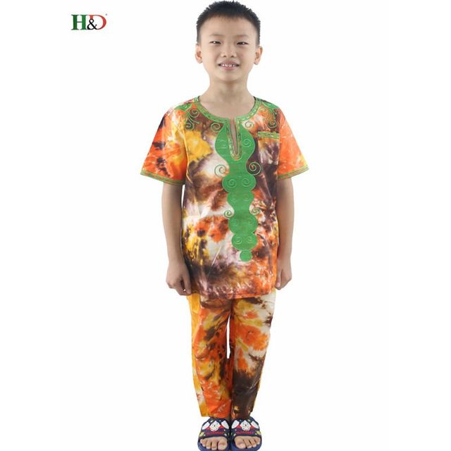 4abc5942fe40 h& d Wholesale Kids children Traditional African Clothing Print Dashiki  T-shirt For Boys tops