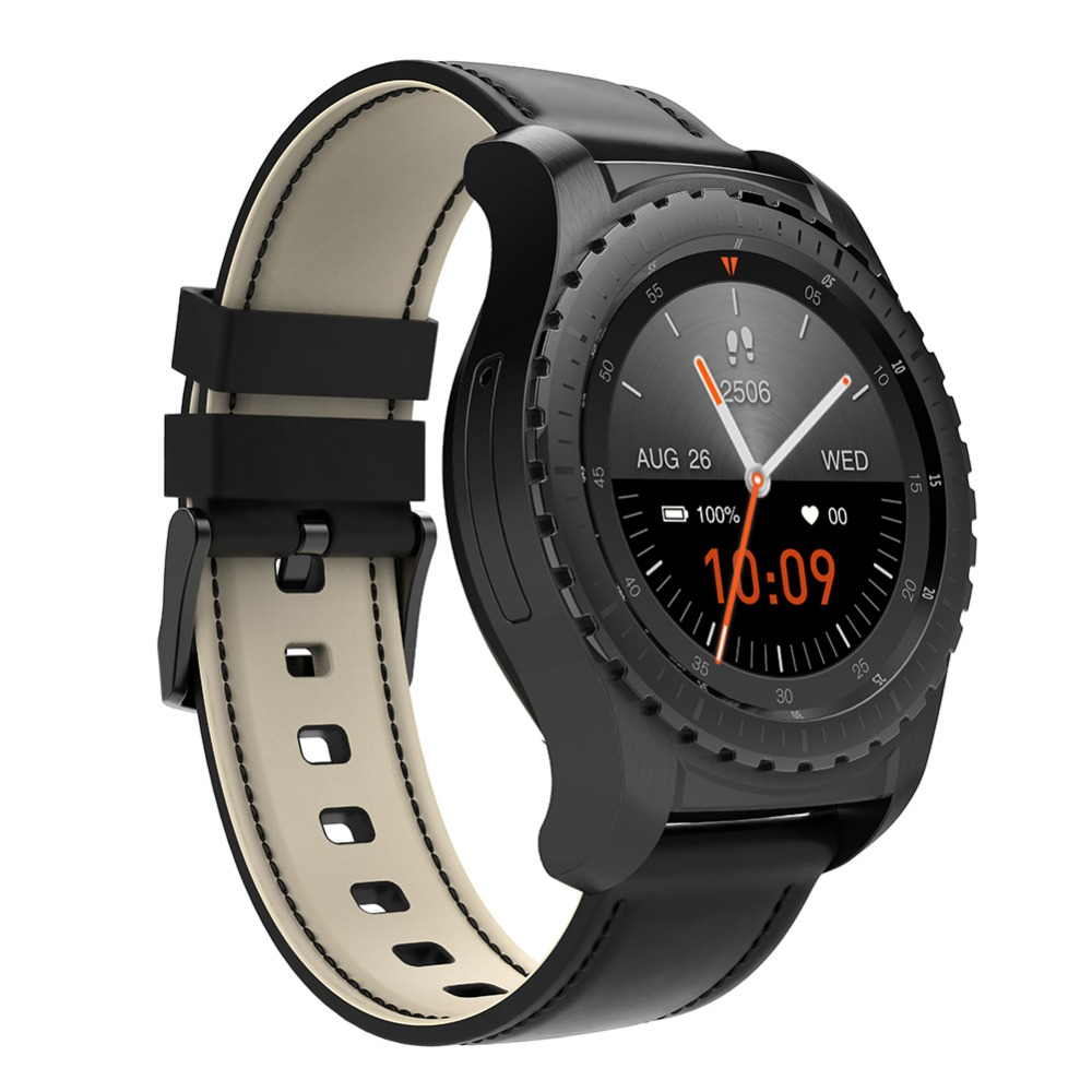 KW28 1.3inch Smart Watch Heart Rate Monitoring Supporting 16GB TF SIM Card for Xiaomi Huawei Samsung Gear S3 Android Smartphone s99a 1 33 inch touch screen 3g talk smart watch phone bluetooth 4 0 android 5 1 heart rate monitoring sim card smart watch