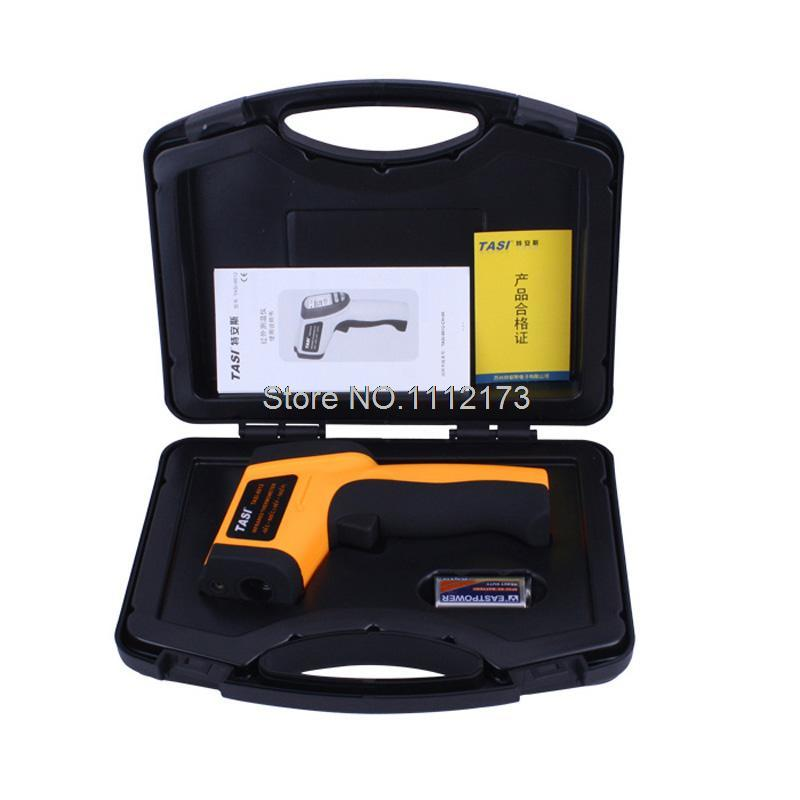 Digital Laser Infrared Thermometer TASI-8610 -50C~700C Degree Non-contact Industrial Infrared Thermometer Gun with Carry BOX tasi 8606 infrared thermometer 32 380 degrees infrared thermometer non contact thermometer industrial and household
