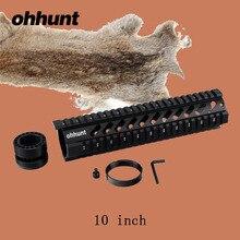 ohhunt Hunting Tactical T-Series 10 Inch Free Quad Picatinny Rail Handguard Installs On Standard Carbine Length AR-15 M16 Rifles