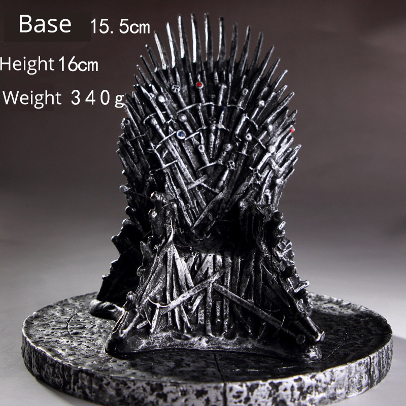Game of Thrones Iron Throne pvc model Figure with base Toy chair Collection toy gift for boy friend kids adult
