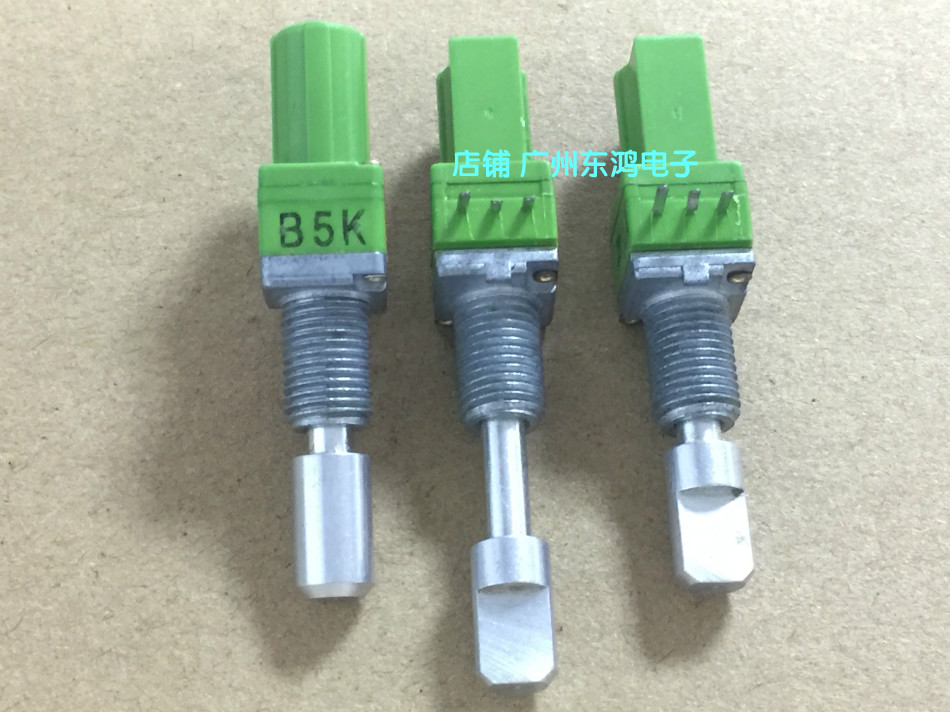2PCS/LOT Taiwan ALPHA Alfa 09 type locking axle precision potentiometer B5K single axis long 25MM push pull potentiometer паяльник bao workers in taiwan pd 372 25mm