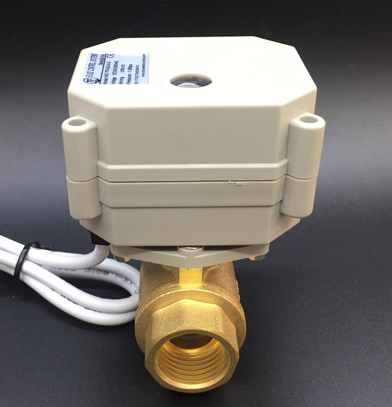 Из Металла Шестерни моторизованный шаровой Клапан 2 Way Латунь DN15 DC12V 2/3/5/7 Провода BSP/ ДНЯО 1/2 ''Электрический Клапан
