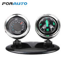 FORAUTO 2 in 1 Car Ornaments Compass Thermometer Guide Ball
