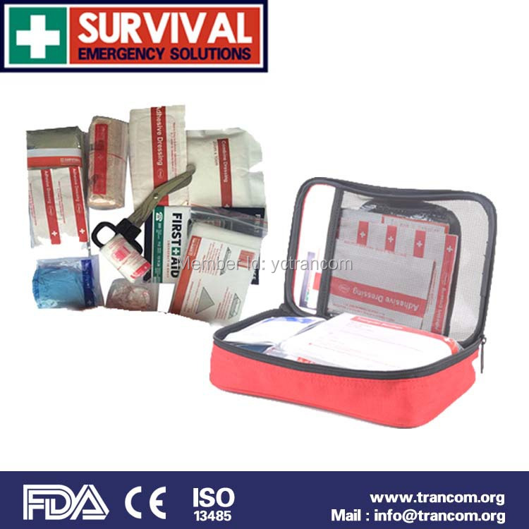 TR102 Professional Manufacture Emergency Car First Aid Kit and Medical Content First Aid Kit with CE FDA ISO TGA first aid for horse and rider emergency care for the stable and trail