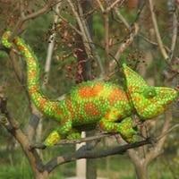 stuffed simulation animal 65 cm chameleon plush toy simulation Anole doll a7790