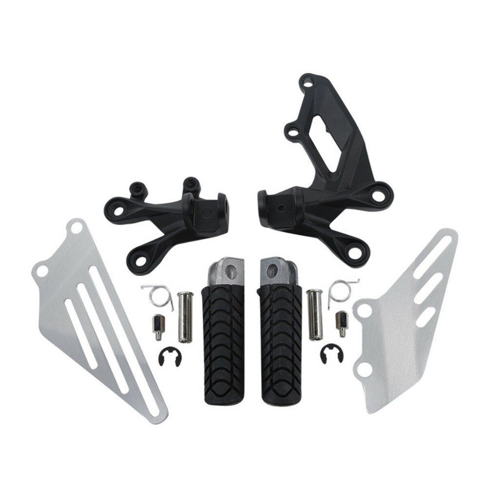Motorcycle Front Footpegs Footrest Bracket Kit For KAWASAKI ZZR1400 ZZR 1400 ZX14R 06 18 16