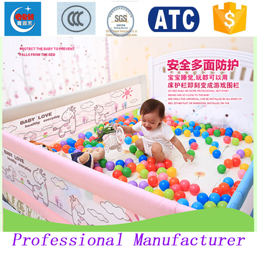 Baby bed gates - Three Sides Children Bed Guard Kids Bed Fence Baby Bed Rail China Mainland