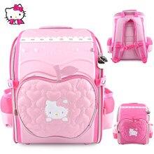 New 3D Hello Kitty Girl schoolbag EVA Lovely Cartoon children Shoulder Bag  Suitable for age  75e3f48ff9