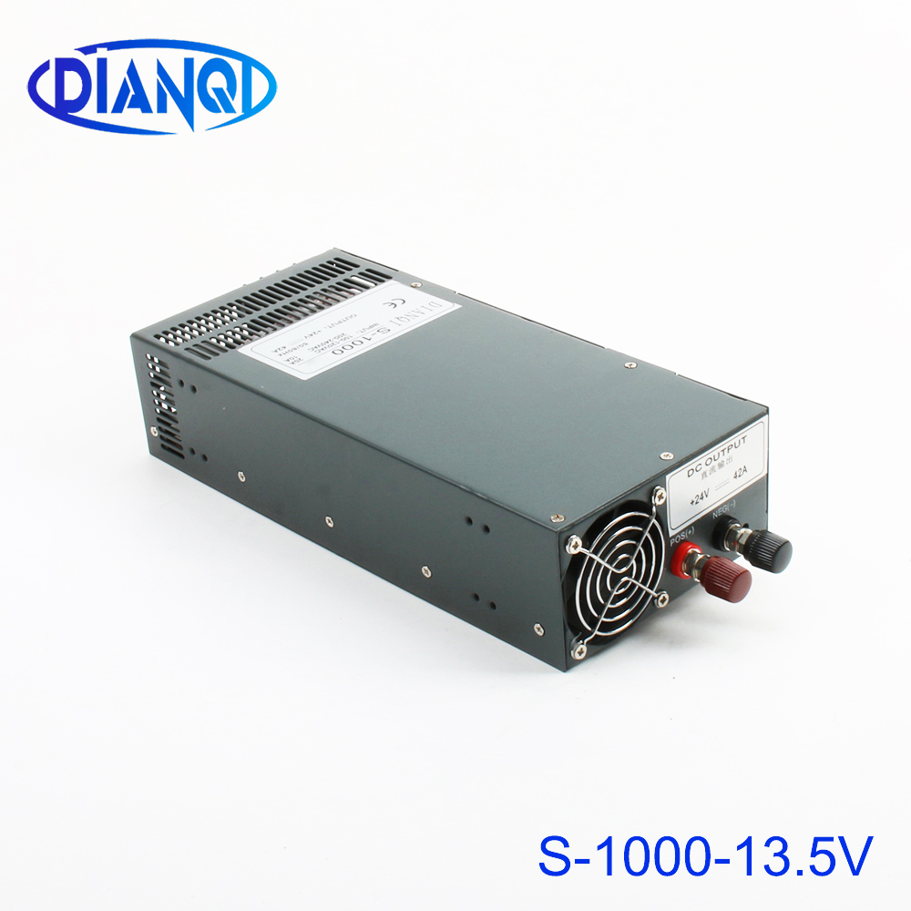 DIANQI 1000W 13.5V 74A 110V or 220v input Single Output Switching power supply for LED Strip light AC to DC power supplyDIANQI 1000W 13.5V 74A 110V or 220v input Single Output Switching power supply for LED Strip light AC to DC power supply