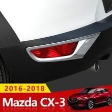 Per Mazda CX3 CX-3 2016 2017 2018 ABS Cromato Anteriore/Posteriore Copertura Della Luce di Nebbia Trim Posteriore Paraurti Posteriore Fendinebbia lampada Stampaggio Guarnisce