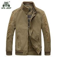 AFS JEEP 2017 Plus size M 5XL men's spring high quality casual brand 100% cotton jacket khaki coat autumn man army jackets coats