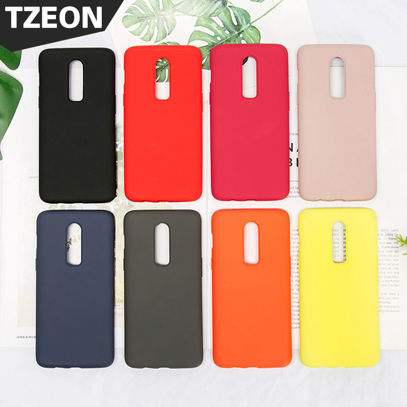Silicone Cover For Oneplus6 Phone Case Offical Style Smooth Liquid Skin Feel Soft Rubber Protective Back Coque Funda One Plus 6