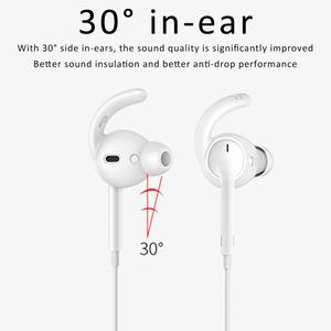 Image 5 - 3 Pairs Silicone Hook Shaped Headset Stabilizer In ear Anti slip Ear Hooks Covers Accessories For AirPods EarPods Wired Headsets