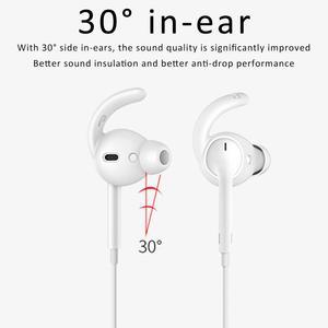 Image 5 - 3 paar Siliconen Haak Vormige Headset Stabilisator In Ear Anti slip Oor Haken Covers Accessoires Voor AirPods EarPods Bedrade headsets